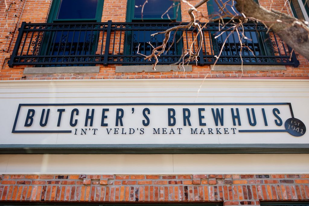Butcher's Brewhuis exterior sign