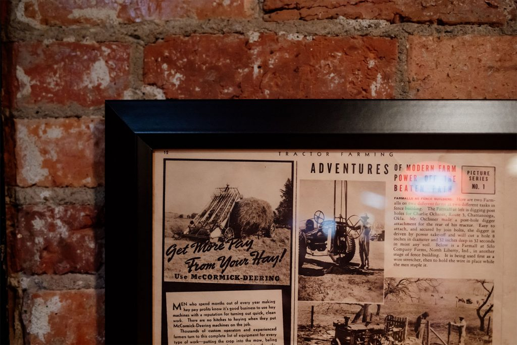 Tractor Farming framed publication